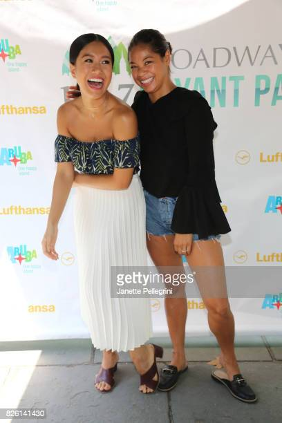 Rachelle Ann Go and Eva Noblezada from the cast of Miss Saigon attend 1067 Lite FM's Broadway in Bryant Park 2017 on August 3 2017 in New York City