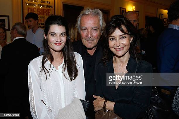 Rachelle Arditi Pierre Arditi and Evelyne Bouix attend the 'Tout ce que vous voulez' Theater Play at Theatre Edouard VII on September 19 2016 in...