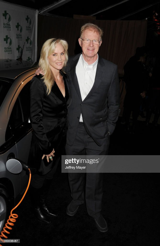 Rachelle Carson and Ed Begley Jr arrive at Global Green USA's 10th Annual PreOscar party at Avalon on February 20 2013 in Hollywood California