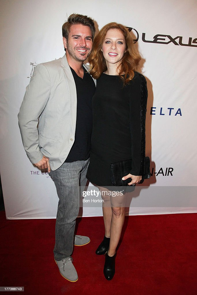 Rachelle Lefevre (R) and guest attend the Festa Italiana with Giada de Laurentiis opening night celebration of the third annual Los Angeles Food & Wine Festival on August 22, 2013 in Los Angeles, California.
