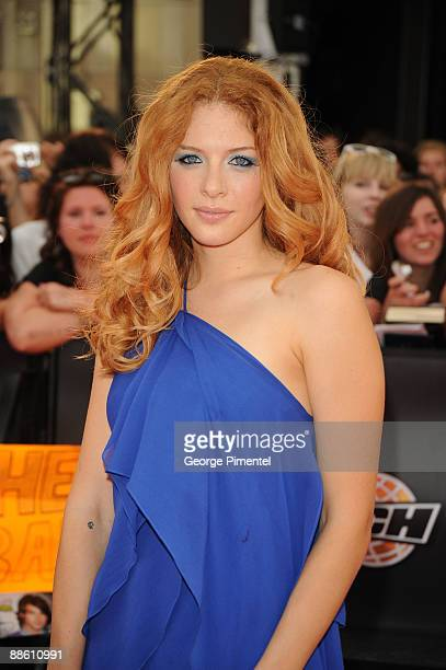 Rachelle Lefevre arrives on the red carpet of the 20th Annual MuchMusic Video Awards at the MuchMusic HQ on June 21 2009 in Toronto Canada