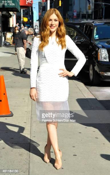 Rachelle Lefevre is seen on June 24 2014 in New York City