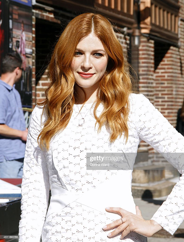 <a gi-track='captionPersonalityLinkClicked' href=/galleries/search?phrase=Rachelle+Lefevre&family=editorial&specificpeople=2538883 ng-click='$event.stopPropagation()'>Rachelle Lefevre</a> leaves the 'Late Show with David Letterman' at Ed Sullivan Theater on June 24, 2014 in New York City.