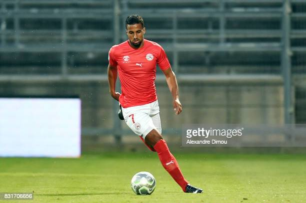 Rachid Alioui of Nimes during the Ligue 2 match between Nimes Olympique and As Nancy Lorraine at Stade des Costieres on August 14 2017 in Nimes