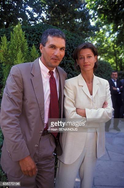 Rachid Arhab et Carole Gaessler lors de la Présentation de la grille des programmes de la rentrée sur France 2 en août 1998 en France