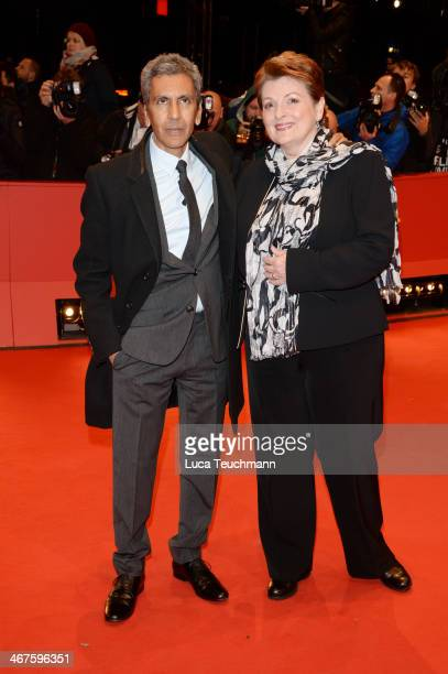 Rachid Bouchareb and Brenda Blethyn attend the 'Two Men in Town' premiere during 64th Berlinale International Film Festival at Berlinale Palast on...