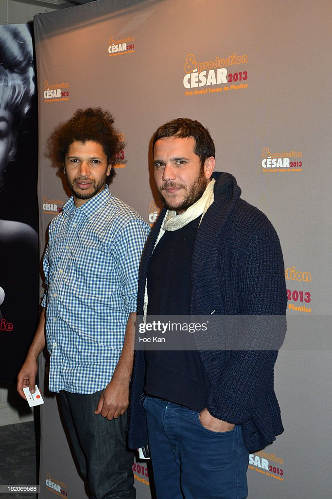 Rachid Djaidani (L) and a guest attend the Producer's Dinner - Cesar Film Awards 2013 at Georges V on February 18, 2013 in Paris, France.