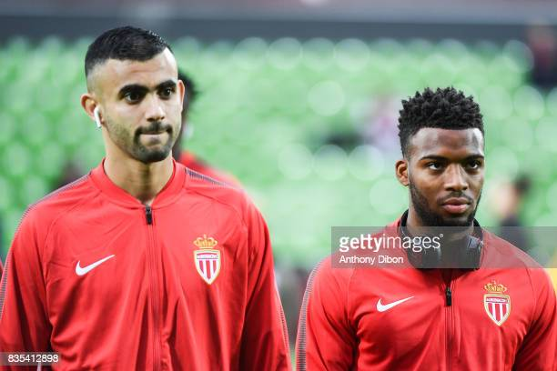 Rachid Ghezzal and Thomas Lemar of Monaco during the Ligue 1 match between FC Metz and AS Monaco on August 18 2017 in Metz