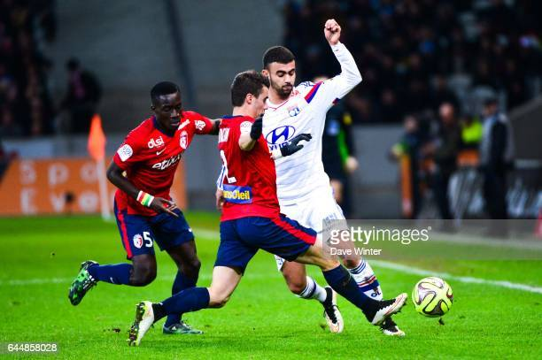 Rachid GHEZZAL / Idrissa GUEYE / Sebastien CORCHIA Lille / Lyon 27eme journee de Ligue 1 Photo Dave Winter / Icon Sport