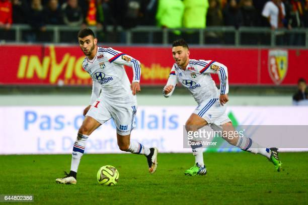 Rachid GHEZZAL / Jordan FERRI Lens / Lyon 21eme journee Ligue 1 Photo Dave Winter / Icon Sport