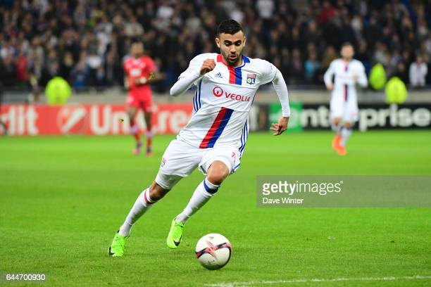 Rachid Ghezzal of Lyon during the Europa League match between Olympique Lyonnais and AZ Alkmaar at Stade des Lumieres on February 23 2017 in...