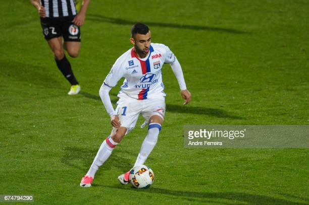 Rachid Ghezzal of Lyon during the French Ligue 1 match between Angers and Lyon on April 28 2017 in Angers France