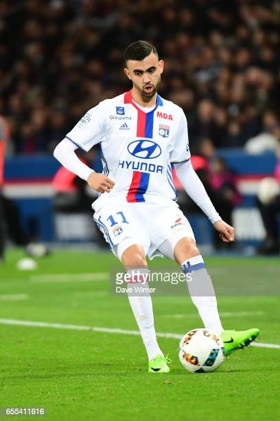 Rachid Ghezzal of Lyon during the French Ligue 1 match between Paris Saint Germain and Lyon at Parc des Princes on March 19 2017 in Paris France