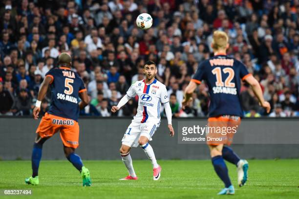 Rachid Ghezzal of Lyon during the Ligue 1 match between Montpellier and Olympique Lyonnais Lyon at Stade de la Mosson on May 14 2017 in Montpellier...