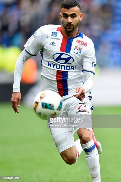 Rachid Ghezzal of Lyon during the Ligue 1 match between Olympique Lyonnais and Fc Nantes at Stade de Gerland on May 7 2017 in Lyon France
