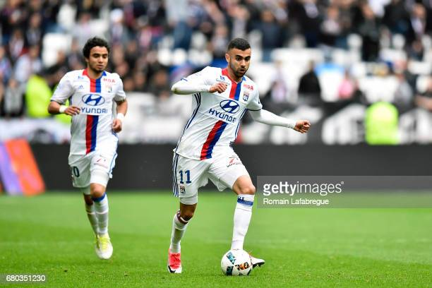 Rachid Ghezzal of Lyon during the Ligue 1 match between Olympique Lyonnais and Fc Nantes at Stade des Lumieres on May 7 2017 in Lyon France