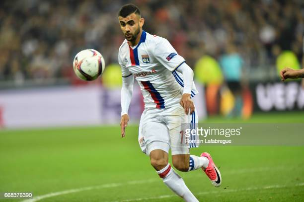 Rachid Ghezzal of Lyon during the Uefa Europa League quarter final first leg match between Olympique Lyonnais Lyon and Besiktas at Stade des Lumieres...