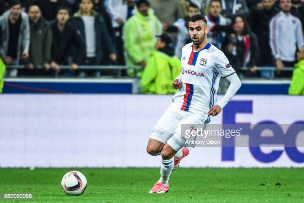 Rachid Ghezzal of Lyon during the Uefa Europa League semi final second leg match between Olympique Lyonnais Lyon and Ajax Amsterdam at Parc Olympique...