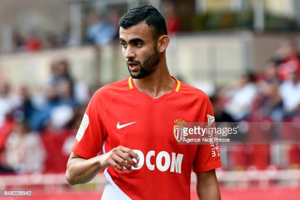 Rachid Ghezzal of Monaco during the Ligue 1 match between AS Monaco and Strasbourg at Stade Louis II on September 16 2017 in Monaco