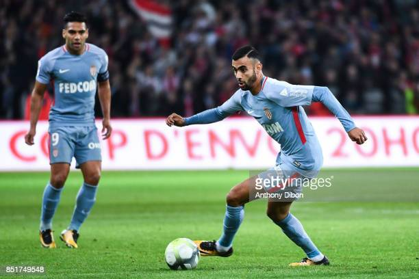 Rachid Ghezzal of Monaco during the Ligue 1 match between Lille OSC and AS Monaco at Stade Pierre Mauroy on September 22 2017 in Lille