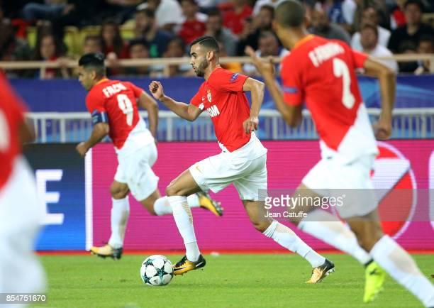 Rachid Ghezzal of Monaco during the UEFA Champions League group G match between AS Monaco and FC Porto at Stade Louis II on September 26 2017 in...