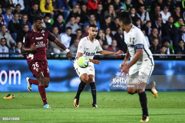 Rachid Ghezzal of Monaco gives the ball for Radamel Falcao during the Ligue 1 match between FC Metz and AS Monaco on August 18 2017 in Metz