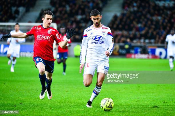 Rachid GHEZZAL / Sebastien CORCHIA Lille / Lyon 27eme journee de Ligue 1 Photo Dave Winter / Icon Sport