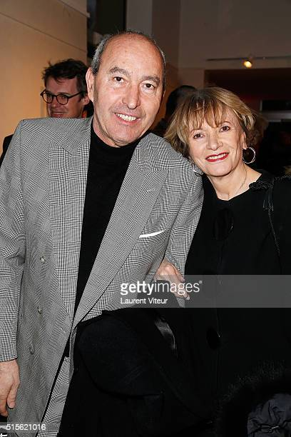 Rachid Khimoune and Eve Ruggieri attend has the signature of the book 'Espace Cardin' by JeanPascal Hesse at Espace Pierre Cardin on March 14 2016 in...