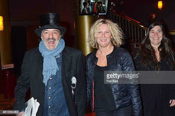 Rachid Taha and guests attend the 'La Creme De La Creme' Paris Premiere at Cinema Gaumont Marignan on March 27 2014 in Paris France