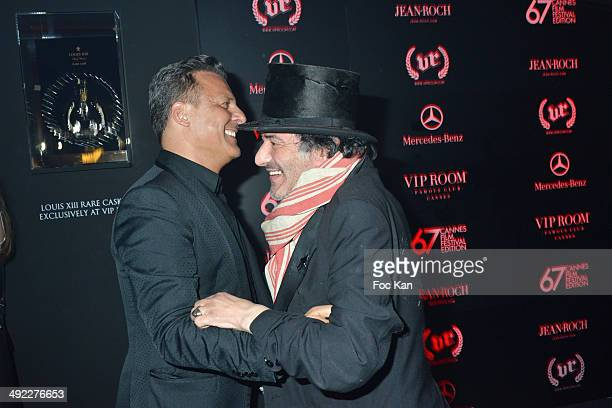Rachid Taha and Jean Roch Pedri attend the VIP Room JW Marriott Day 5 Afro Jack DJ Set at The 67th Annual Cannes Film Festival on May 18 2014 in...