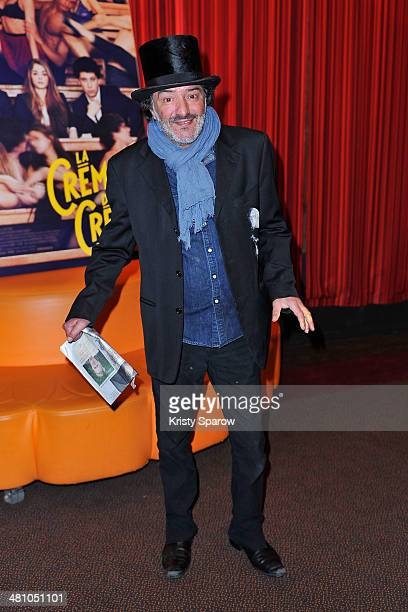 Rachid Taha attends the 'La Creme De La Creme' Paris Premiere at Cinema Gaumont Marignan on March 27 2014 in Paris France