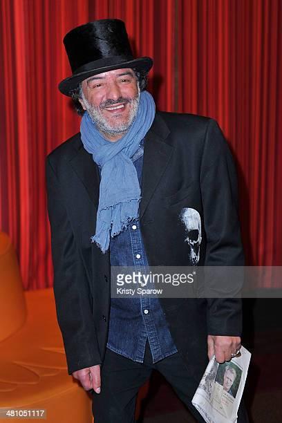 Rachid Taha attends the 'La Creme De La Creme' Paris Premiere at Cinema Gaumont Marignan on March 27 2014 in Paris France