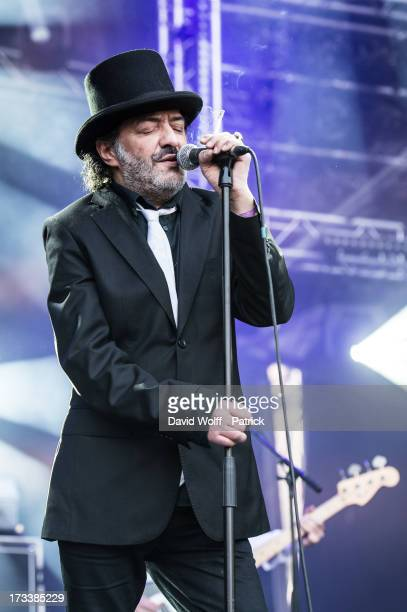 Rachid Taha performs at place de la republique on July 12 2013 in Paris France