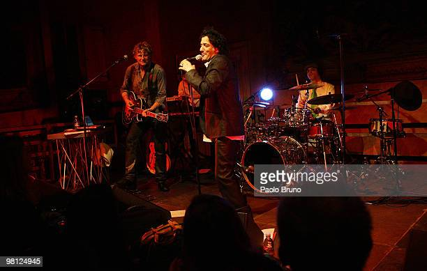 Rachid Taha performs in concert at Villa Medici on March 29 2010 in Rome Italy