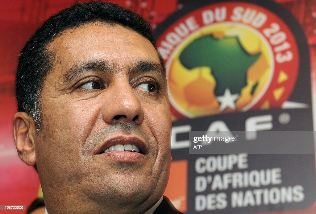 Rachid Taoussi, the coach of the Moroccan national football team, attends a press conference in Rabat on December 26, 2012, to announce the composition of the team for the 2013 CAF African Cup of Nations football championship.