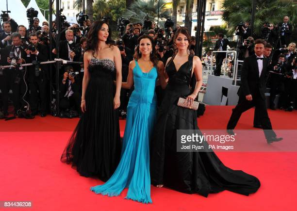 Rachida Brakni Eva Longoria and Aishwarya Rai arrive for the Gala Opening and Official Screening of 'Blindness' during the 61st Cannes Film Festival...