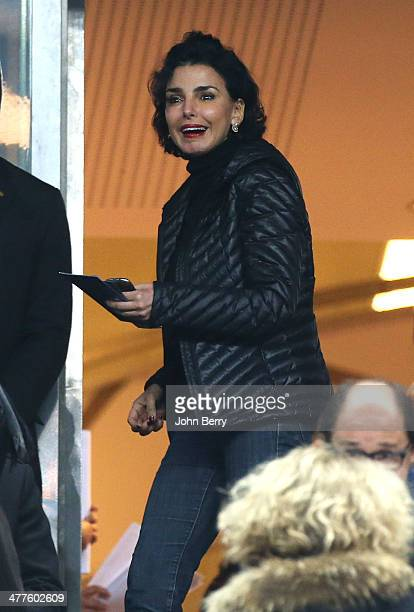 Rachida Dati attends the international friendly match between France and the Netherlands at Stade de France on March 5 2014 in SaintDenis near Paris...