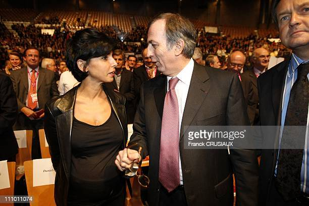 Rachida Dati intervention at the national convention of lawyers in Lille France on October 17th 2008 Rachida Dati and Paul Albert Iweins president of...