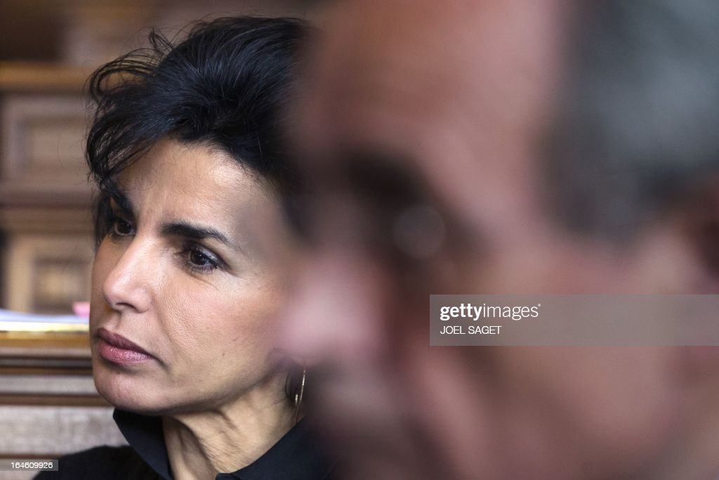 Rachida Dati is pictured prior to take part in Paris' municipal council to rule on the application for the 2013-2014 schoolyear of a reform law increasing the class time of primary school students, on March 25, 2013, at Paris' city hall.