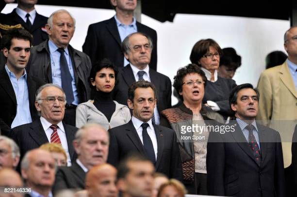 Rachida DATI / Nicolas SARKOZY / Christine BOUTIN / Francois FILLON Lyon / PSG Finale de la Coupe de France
