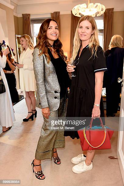 Racil Chalhoub and Belinda White attend a cocktail reception hosted by RACIL and MATCHESFASHIONCOM to celebrate the launch of Racil AW16 Collection...