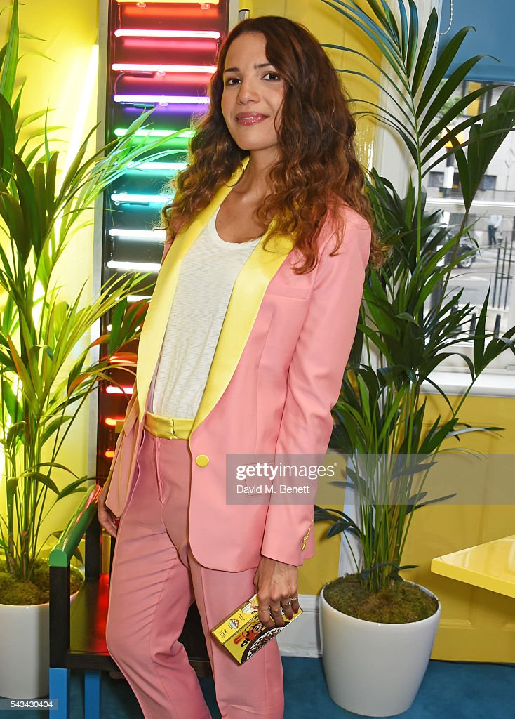 Racil Chalhoub attends a drinks reception and dinner in celebration of the Sabine Getty Showroom in Berkeley Square on June 28, 2016 in London, England.