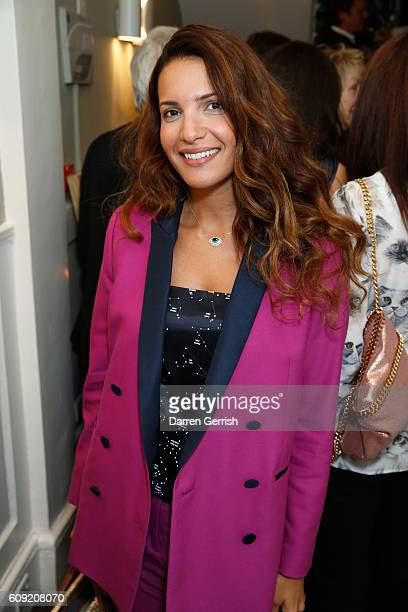 Racil Chalhoub attends Vogue Voice of a Century book launch at Matches Fashion on September 20 2016 in London England