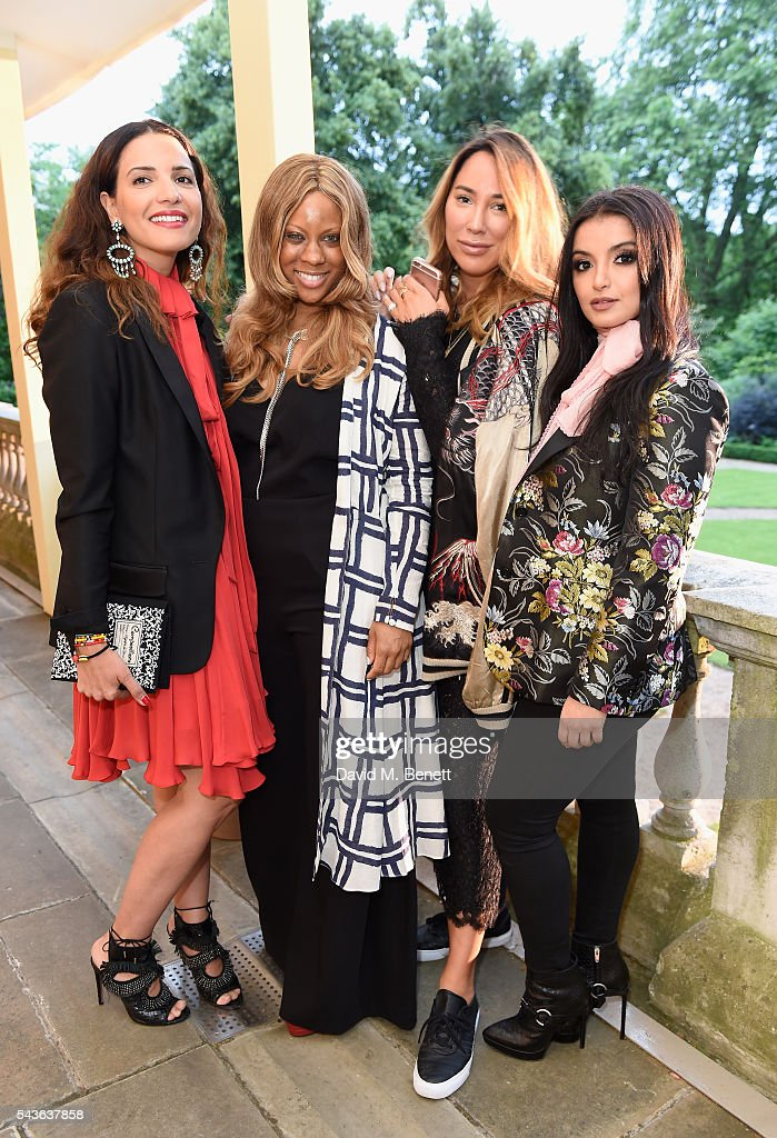 Racil Chalhoub, Stephanie Horton, Alex Meyers and Fajer Fahad attend the Creatures of the Wind Resort 2017 collection and runway show presented by Farfetch at Spencer House on June 29, 2016 in London, England.
