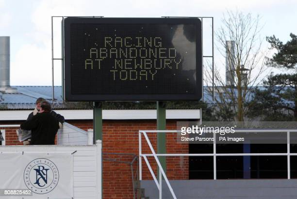 Racing at Newbury today has been abandoned in extraordinary circumstances after Fenix Two and Marching Song collapsed and died in the parade ring...