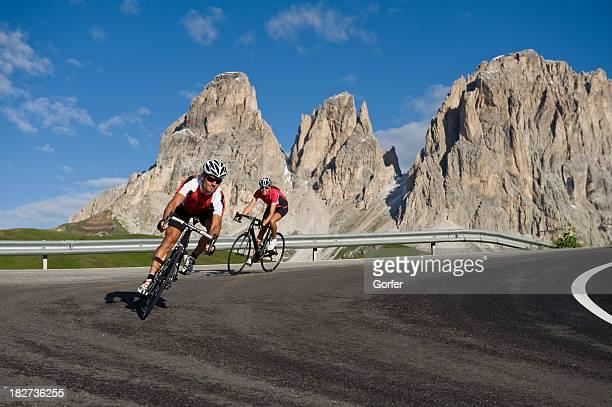Course de vélo de montagne street