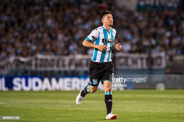 NOVEMBER 01 Racing Club Sergio Vittor during the Copa Sudamericana quarterfinals 2nd leg match between Racing Club de Avellaneda and Club Libertad at...