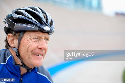 Racing Cyclist at Velodrome