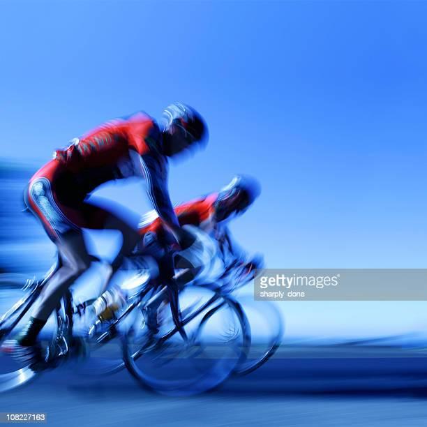 XXL racing cyclists