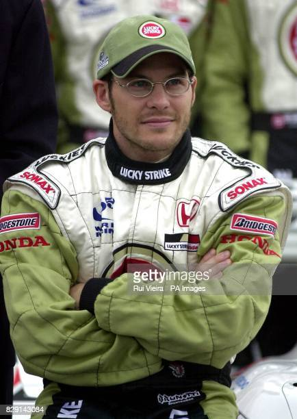 Racing driver Jacques Villeneuve during the launch of the British American Racing Formula One racing car at BAR Headquarters Brackley...